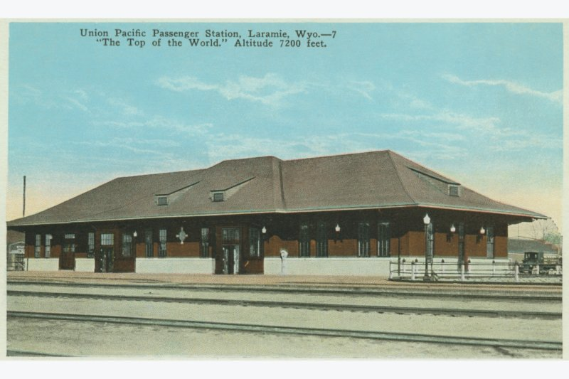Postcard of the Depot, ca. 1924