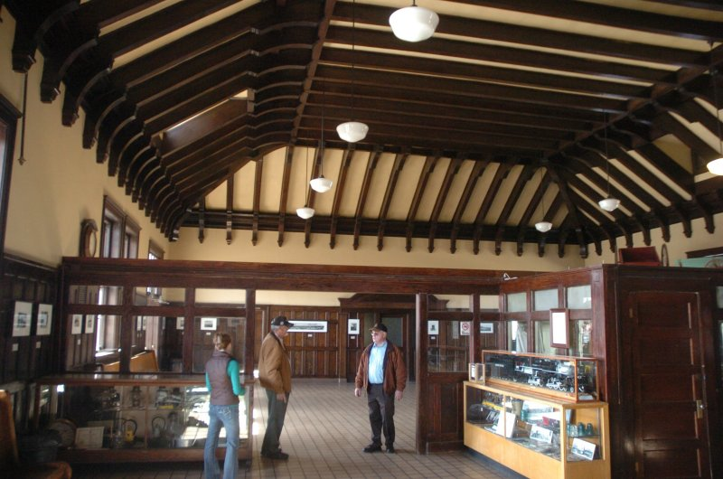 Interior - note the handsome Craftsman-style ceiling