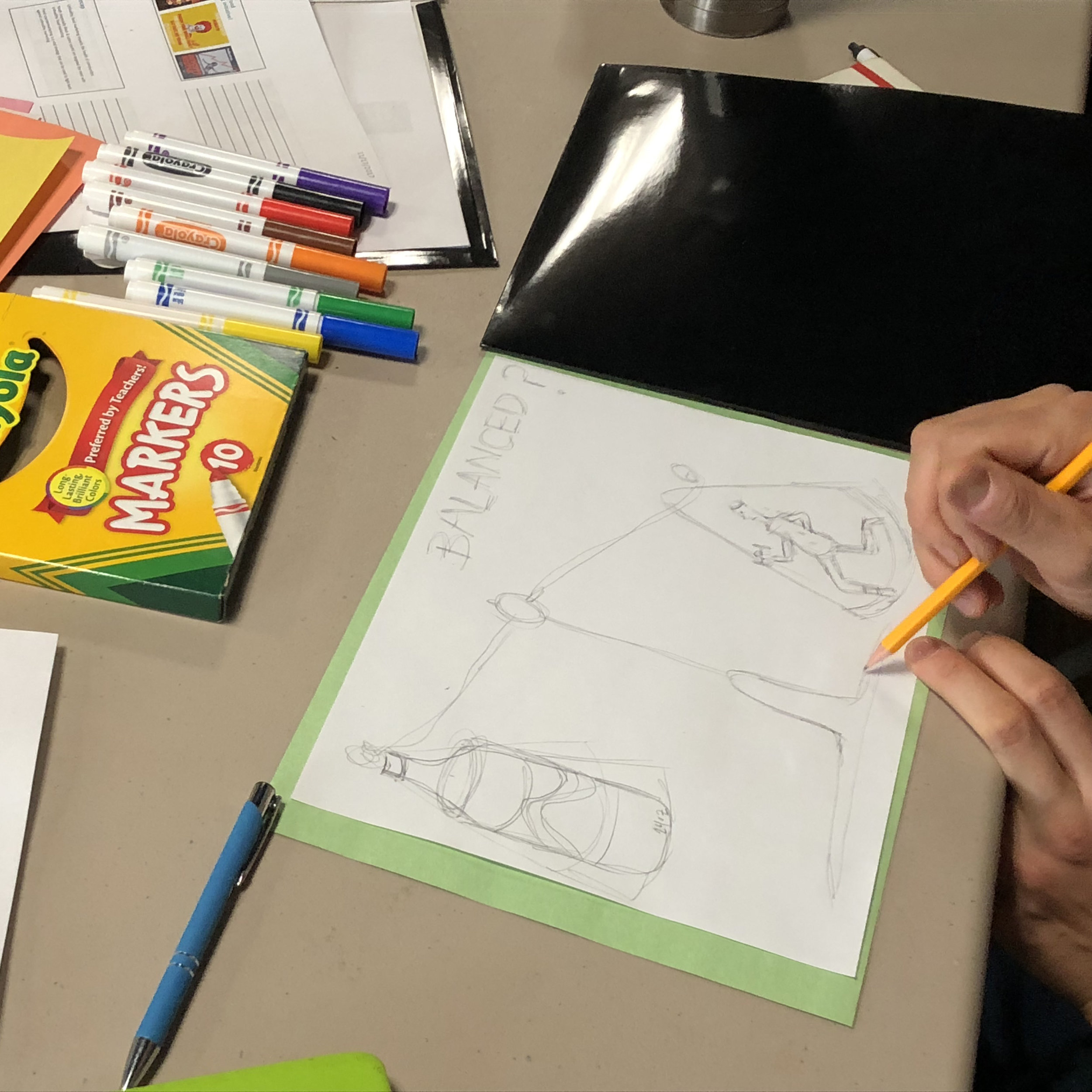 Participants from the Countermakerting Staff Training Program creating a countermarketing image against sugary beverages.