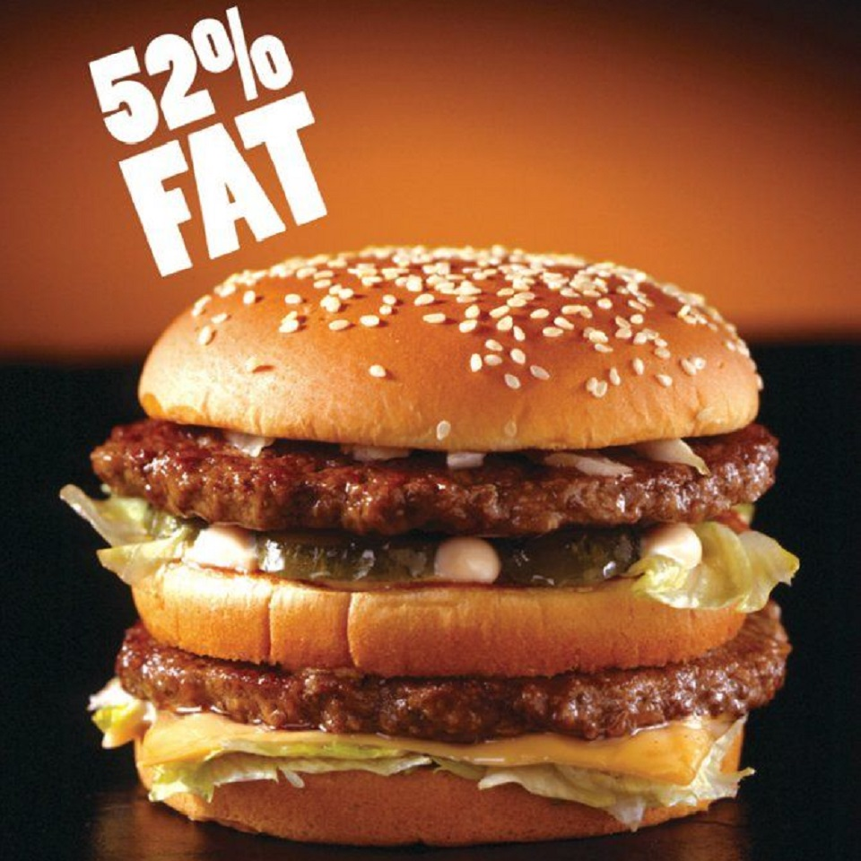Image targeting McDonald's Big Mac retrieved from adbusters.org