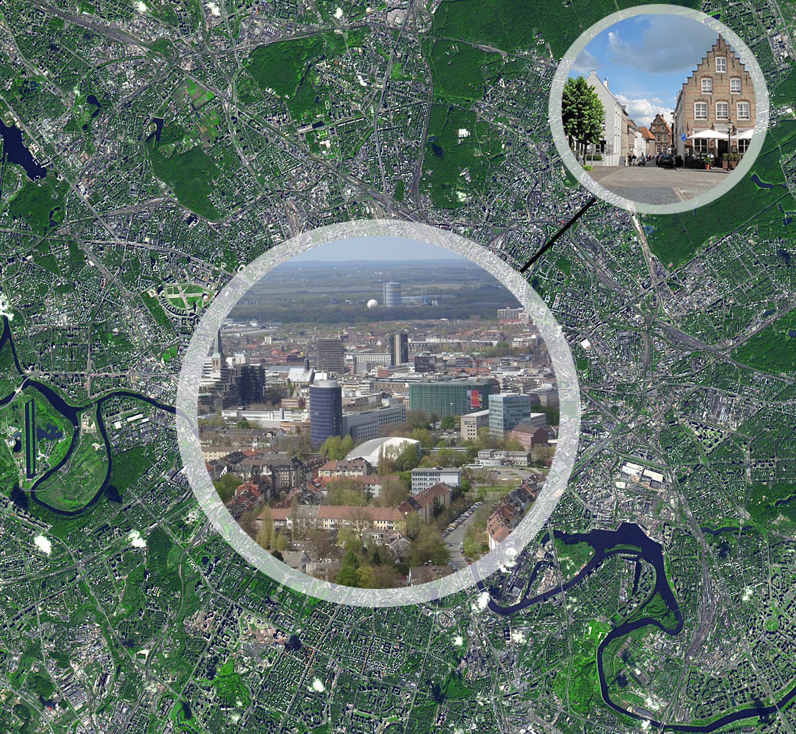 Als je mocht kiezen… - De steden raken overvol! Er zijn maar weinig betaalbare (huur)woningen beschikbaar in de grote steden. Daarom vragen wij ons af: als jij naar het linker plaatje kijkt; zou jij bereid zijn om in een stedelijke regio te wonen waarbij je slechts een paar kilometer verwijderd bent van de stad?