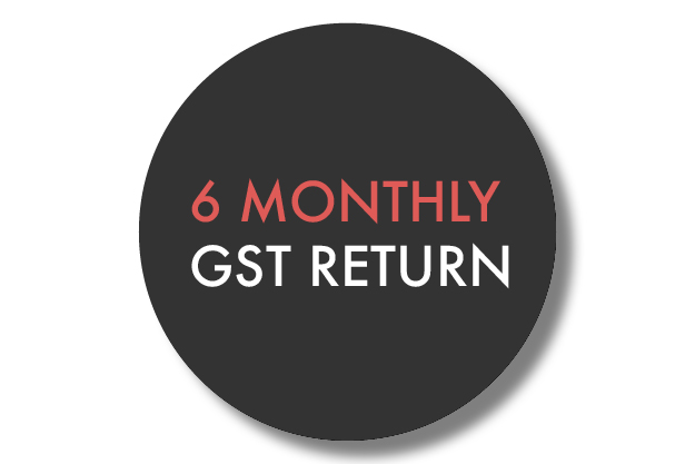 $550 + GST - 6 monthly GST return - Compilation of GST informationReconciling of ledger if requiredPreparation of GST returnFiling with Inland Revenue(Consultancy or advisory work provided in conjunction of return will be billed on a time basis)