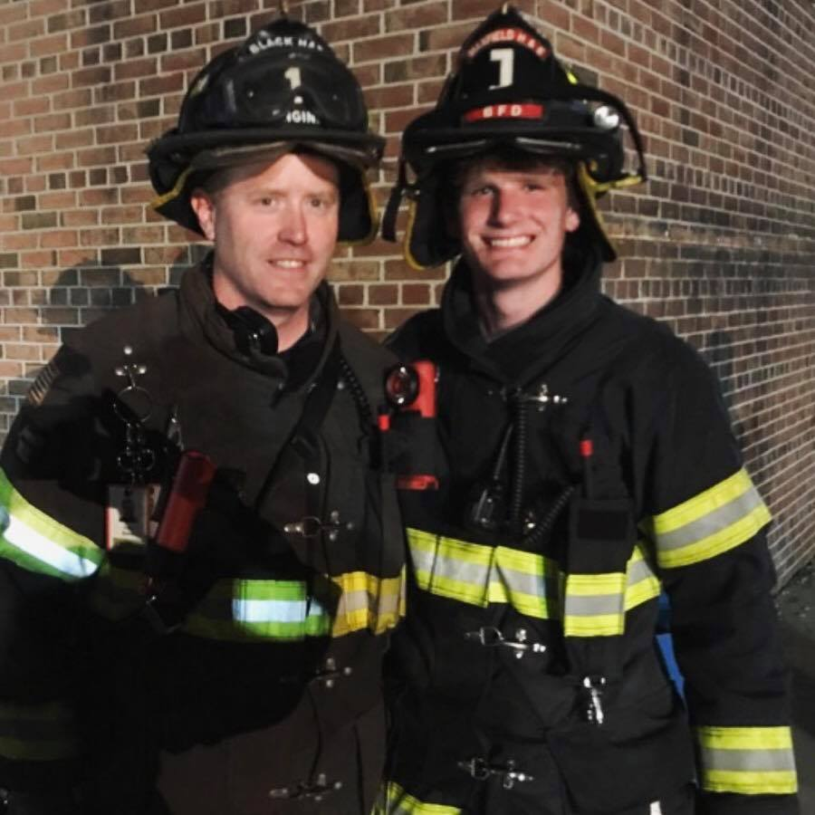 After a fire call picture with my son Ryan