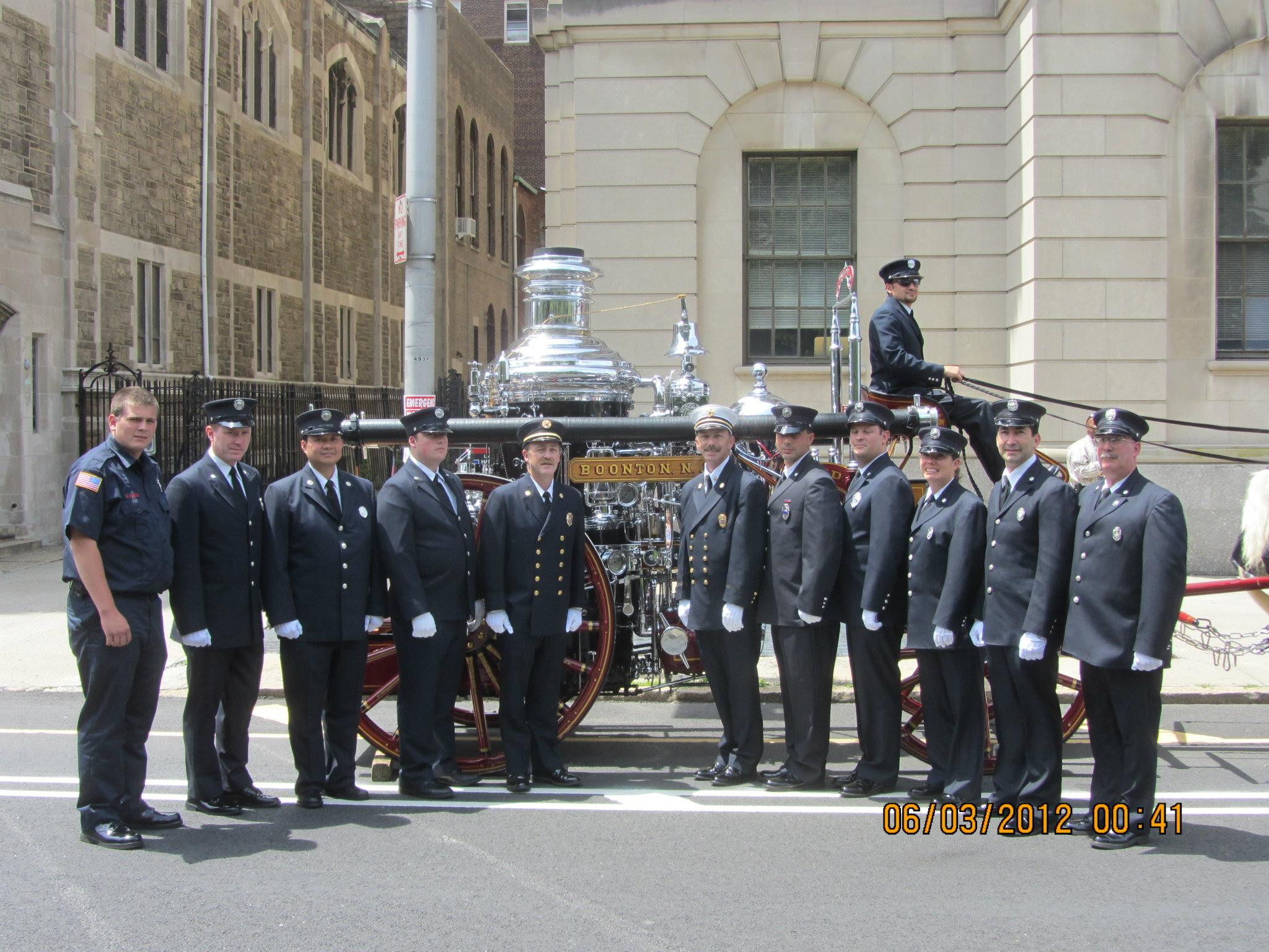 Newark Parade with my company members and son Brendan (all the way to the left)