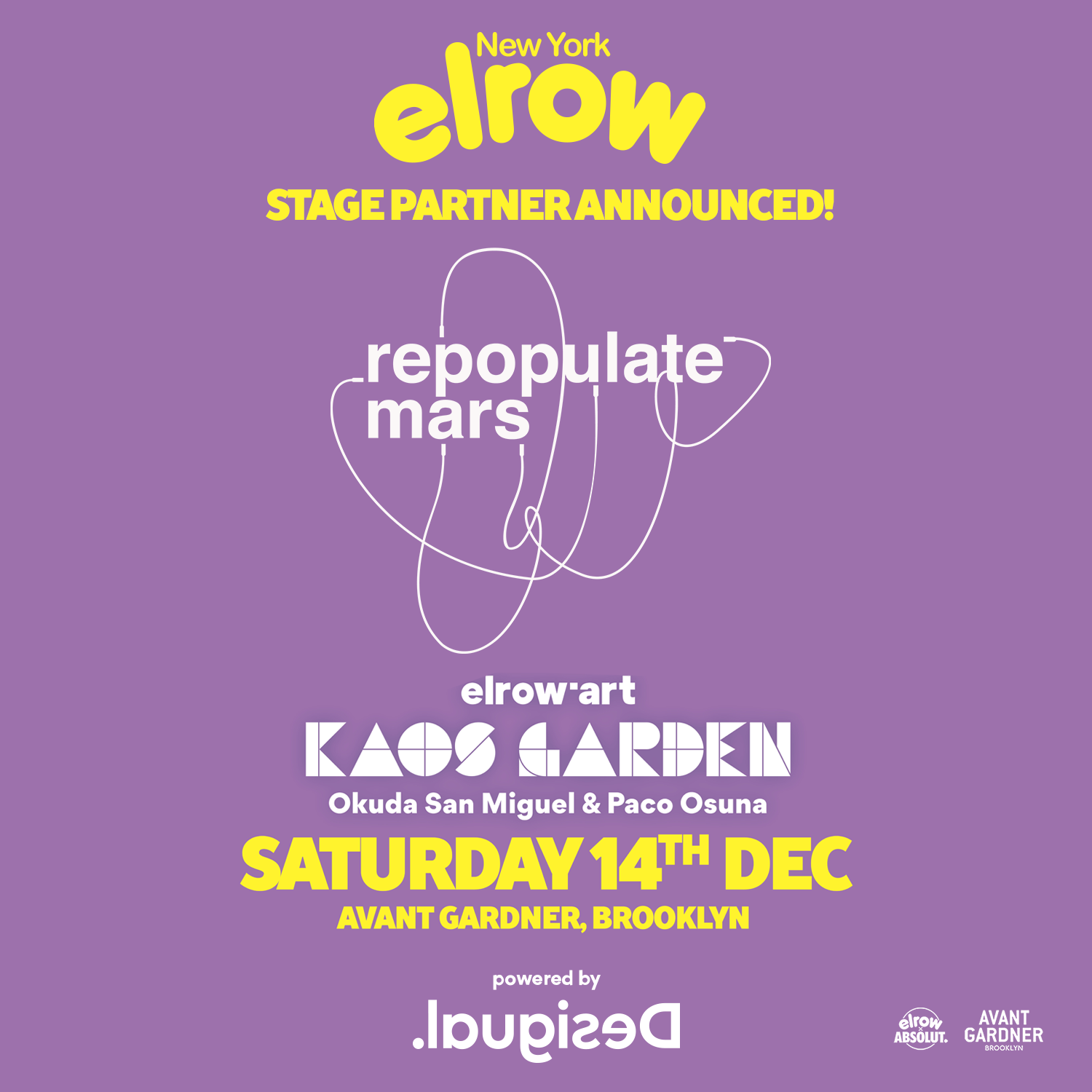 Tickets - Repopulate Mars takes over Kings Hall at Avant Gardner for El Row New York! Details and Lineup TBA