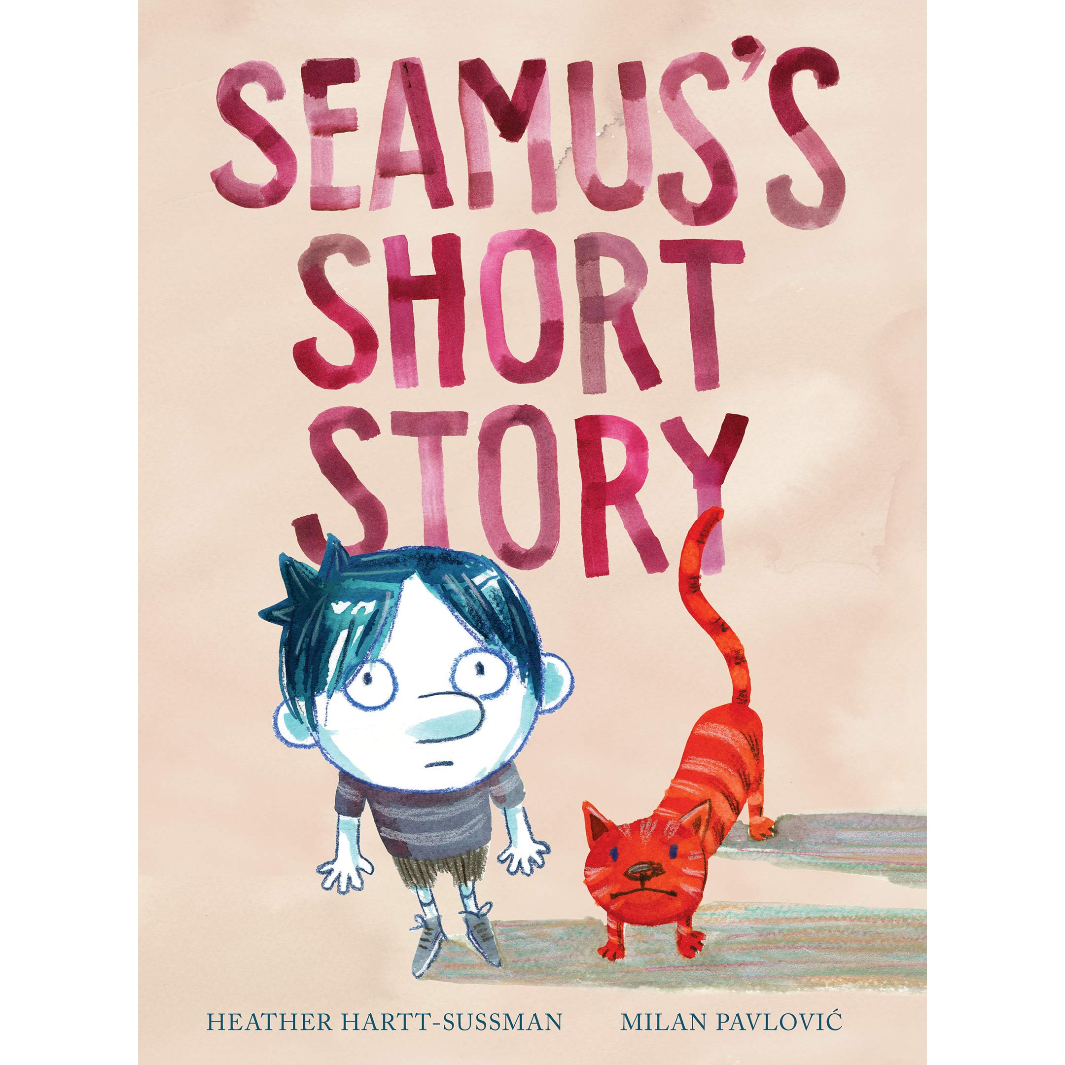 seamus's short storyby heather hartt-sussman - Seamus would give anything to be taller! One day, while playing dress-up in his mother's closet, he finds a way to reach new heights.Acclaimed picture book author Heather Hart-Sussman brings a light touch to this nuanced story about acceptance, resourcefulness and love, complemented by the humor and beauty in Milan Pavlovic's colorful paintings of Seamus's world — where there are times to be tall and times to be small.