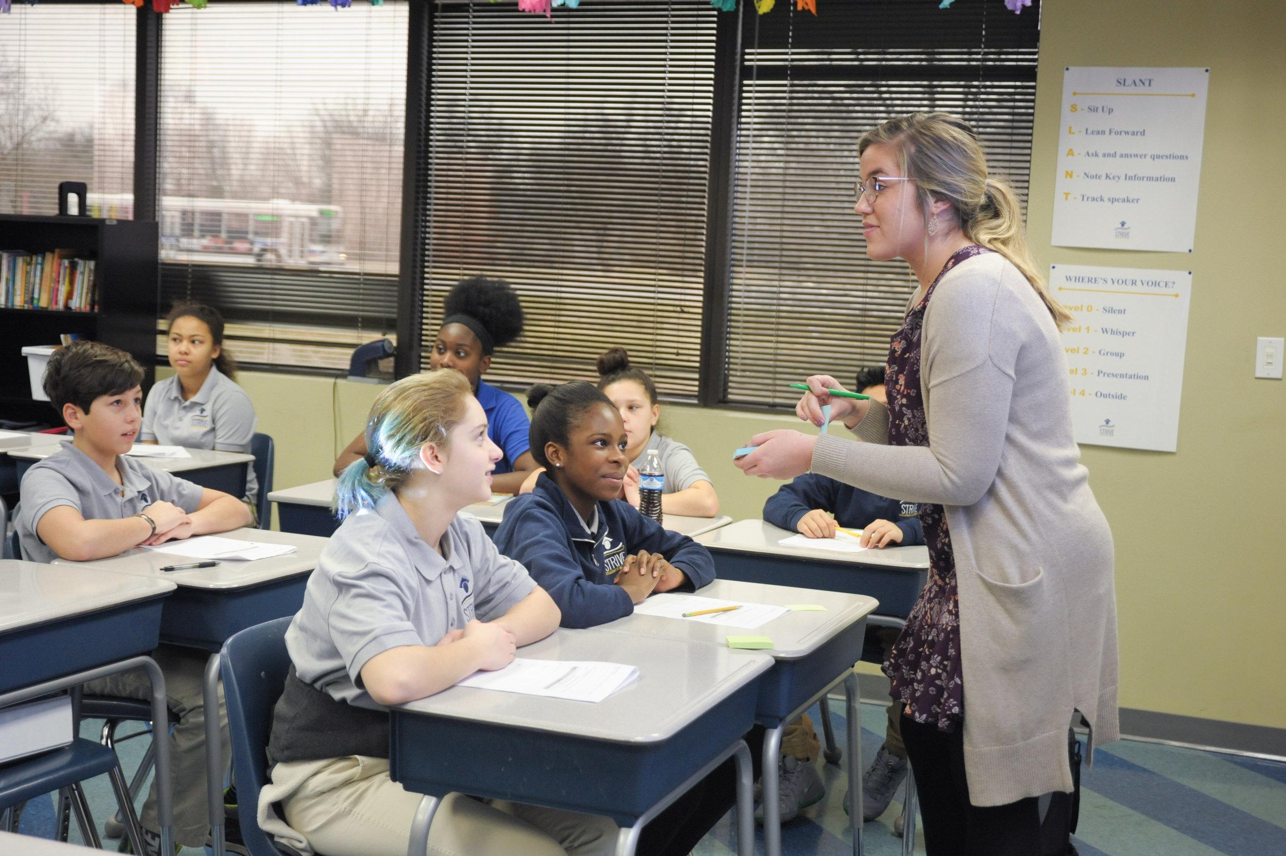 Bethany Eschman, sixth-grade English-language arts teacher at STRIVE Collegiate Academy
