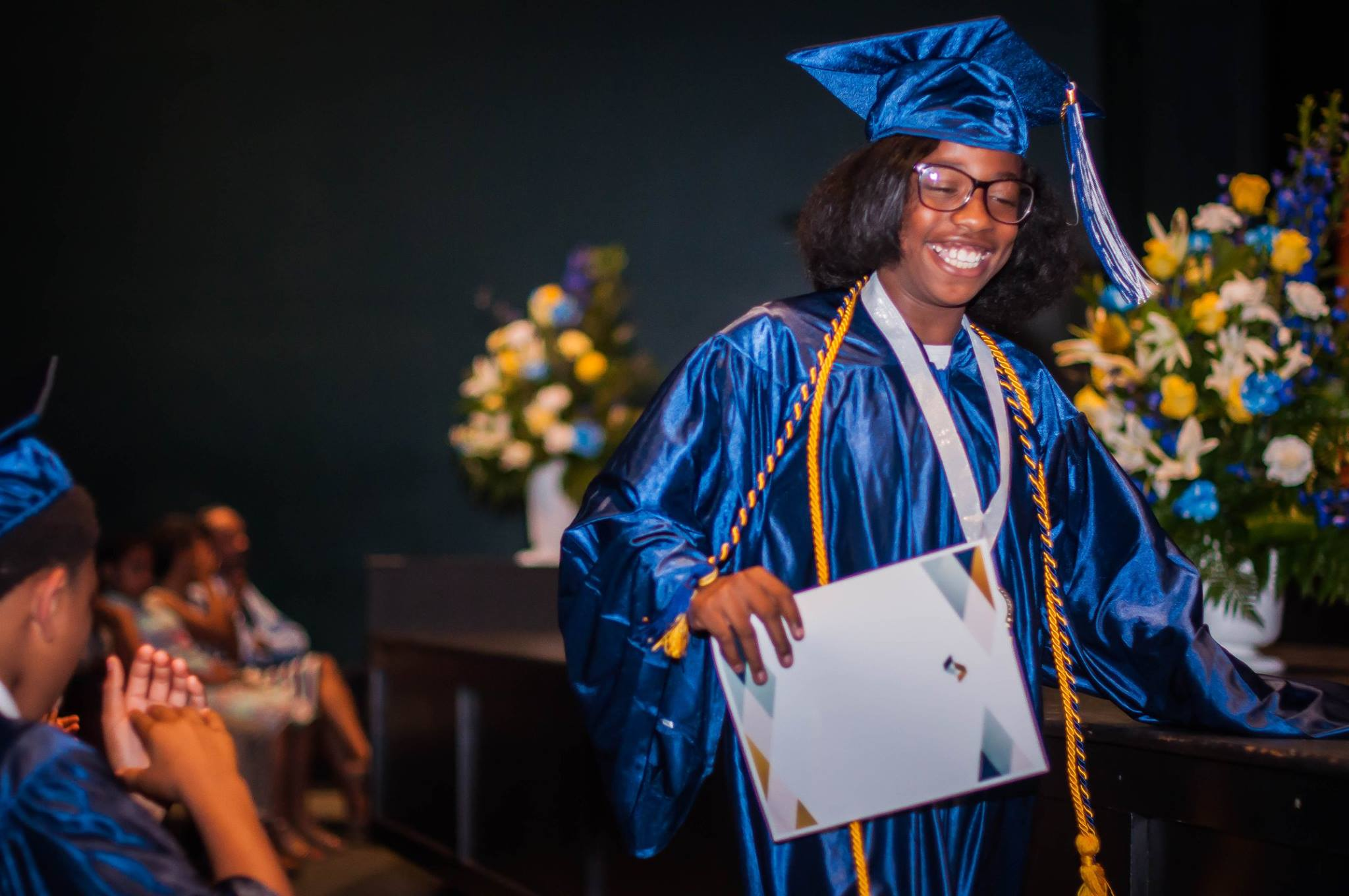 Yolanda's daughter, Rogenique Webster, graduates last spring from Purpose Preparatory Academy.