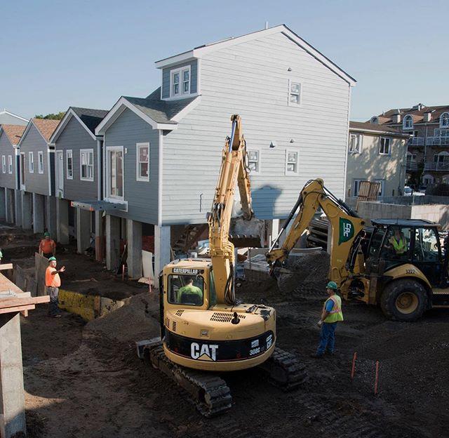 Build It Back homes going up! 📸: Virginia Hanusik for our Urban Omnibus Article #urbanomnibus #sheepsheadbay