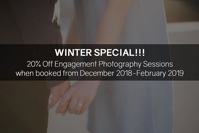 Let your friends, family, and colleagues know that we're running specials on our engagement sessions! Head over to www.hyloevents.com and fill out our quick contact page!