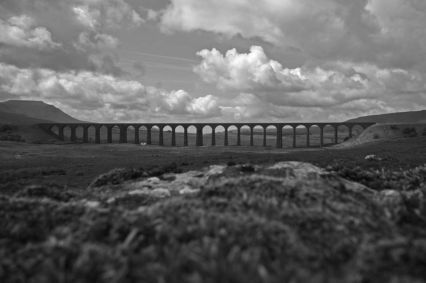 Ribblehead Viaduct on the Settle and Carlise Railway, Ribblehead.