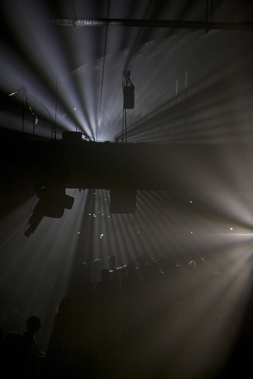 Light Beams. Warehouse Project, Manchester