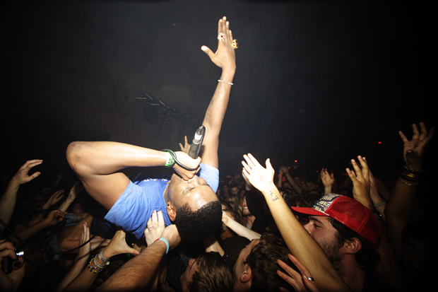 Jay Electronica crowd surfs. Warehouse Project. Manchester