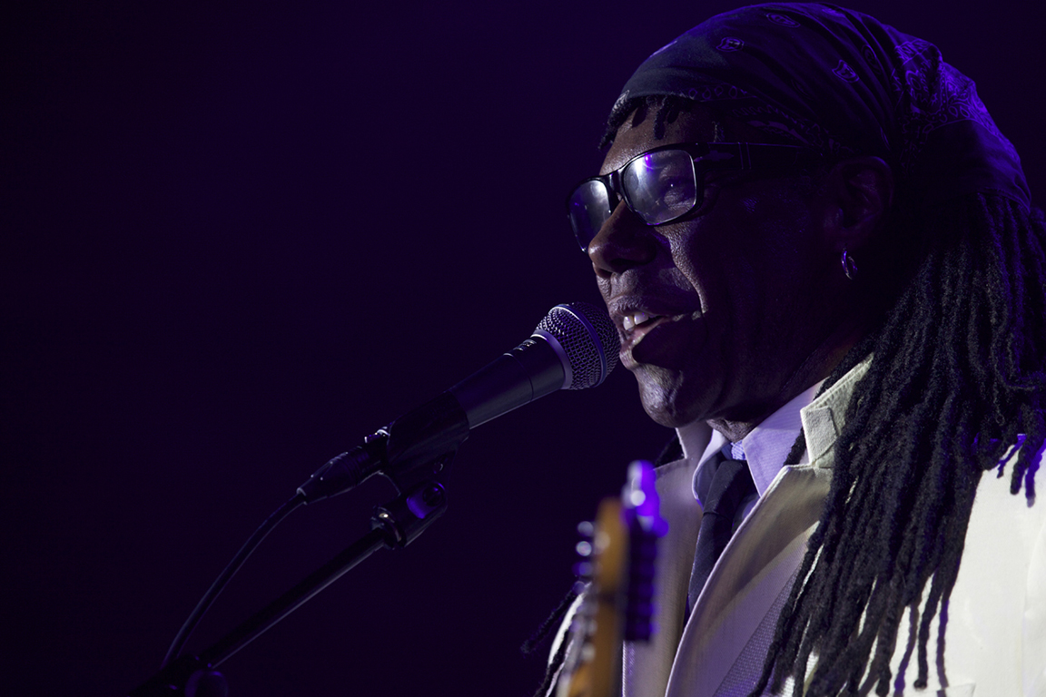 Nile Rodgers of Chic performs. Warehouse Project. Manchester