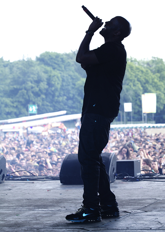 On stage with Kevin Mercer of Da La Soul performs Live. Parklife Festival. Manchester