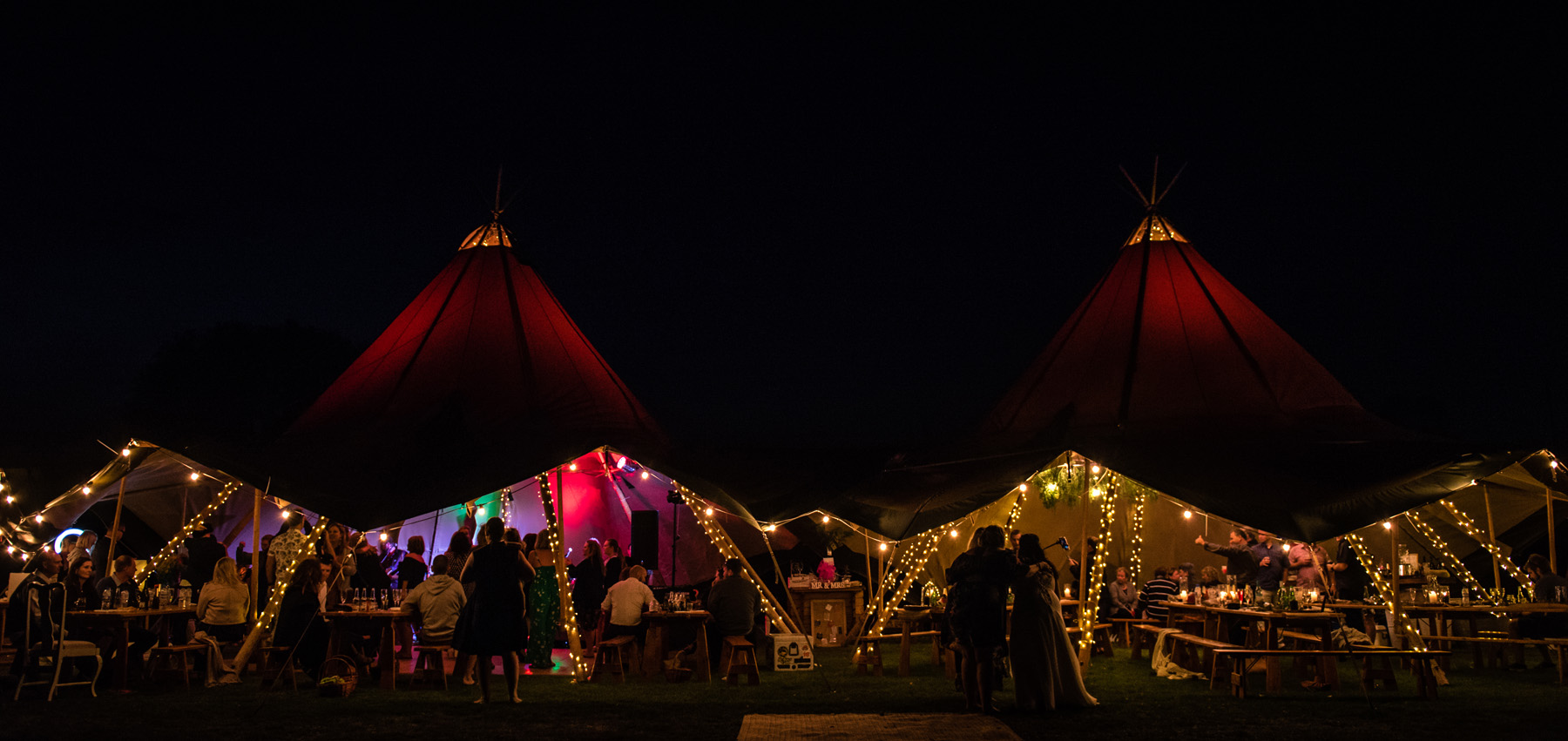 Tipi Lane - A night time view.