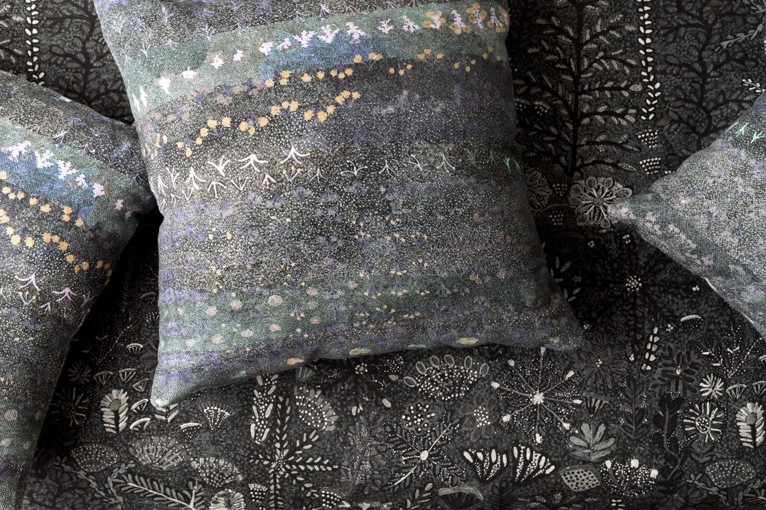 Willie Weston_Ampilatwatja Collection_fabric_Singing Bush Medicine_ Night Sky Cushions and Sugarbag Dreaming_Riverbed.jpg