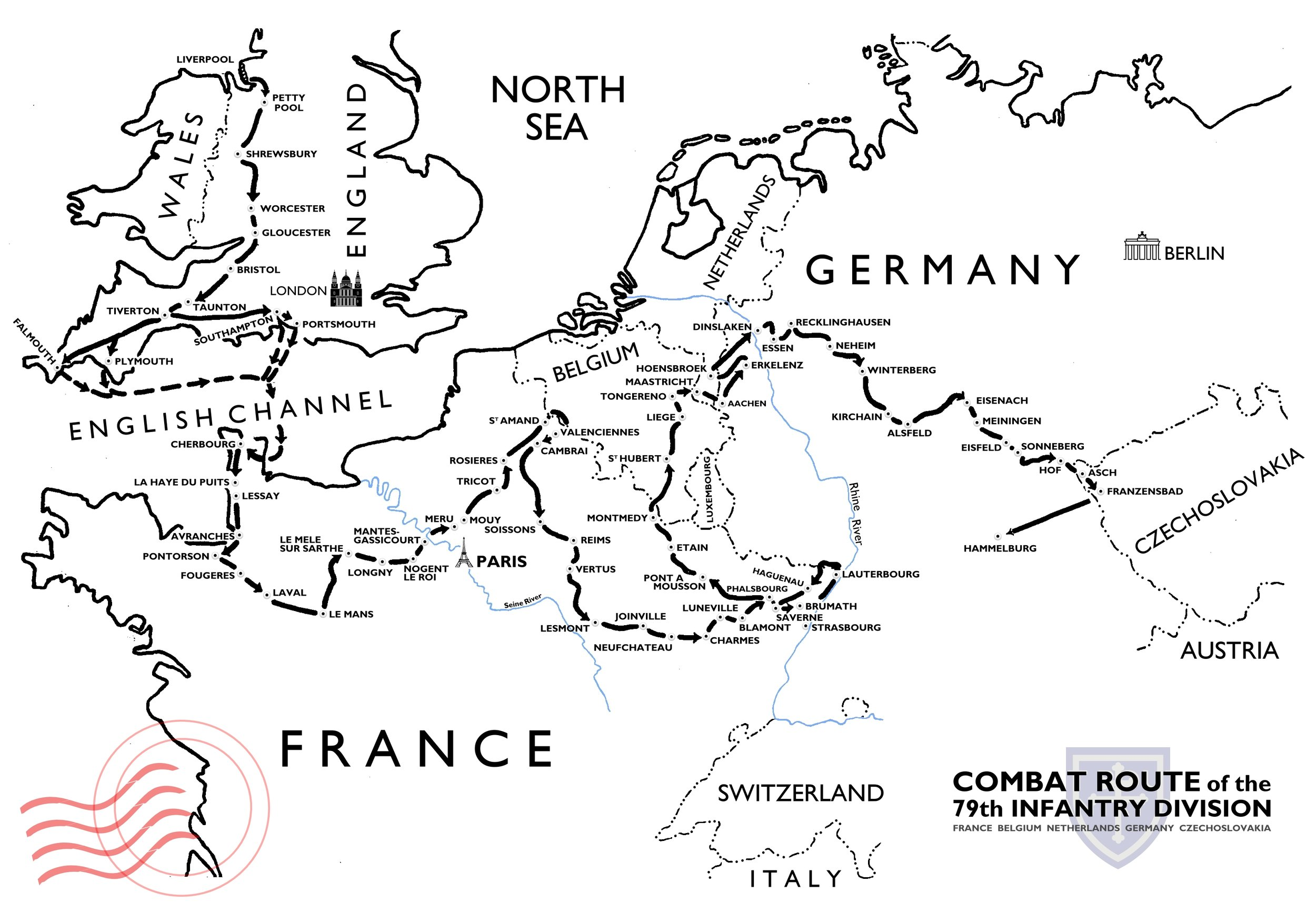 The Route - See a detailed map of the towns and cities we plan to go through. We won't hit every place, but will follow their general path, making sure to visit notable battlefields and other areas the soldiers themselves have talked about.
