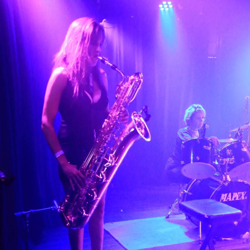 Michelle Mayhem - Baritone Sax