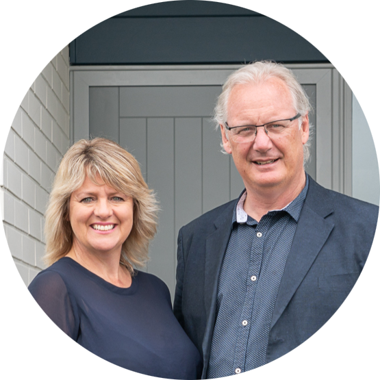 Karen Pritchard and Andrew O'Donoghue of Touchstone Homes.