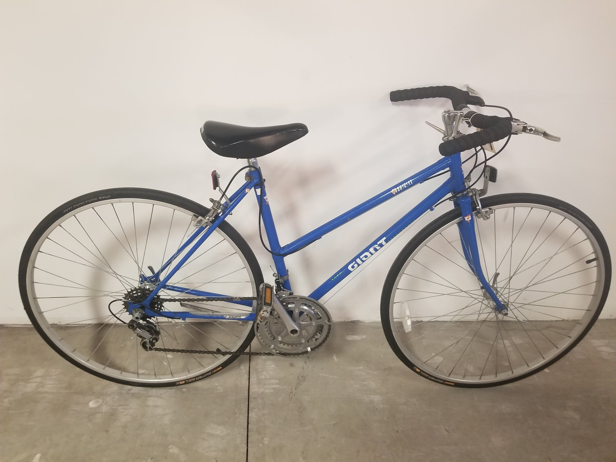 """Giant Cabriolet step-thru 15"""" - Used Bike modified for commuter style flat bars. Fun bike to get around town.$200 (on sale from $225)"""