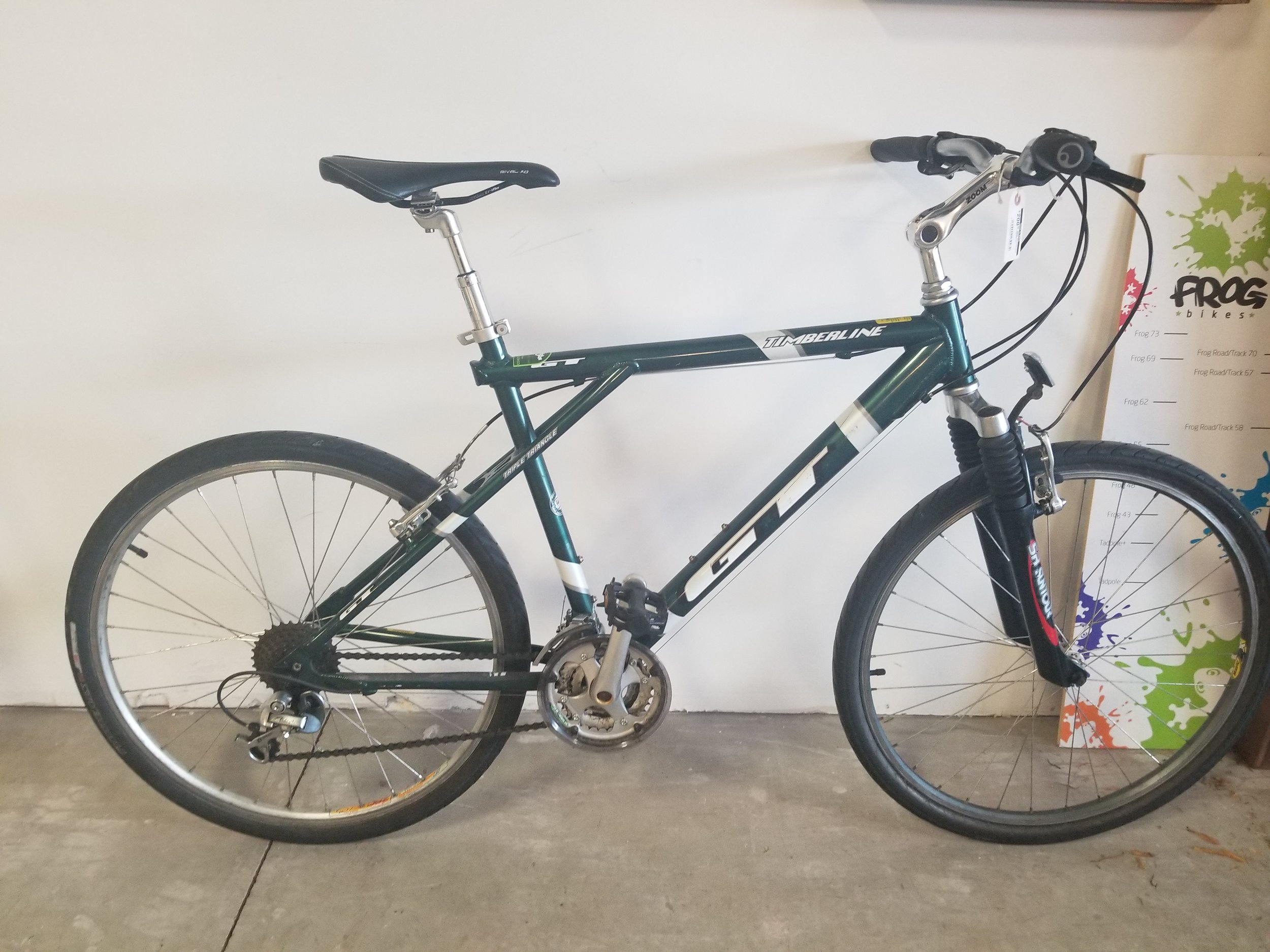"""GT timberline mtn bike 15"""" - Used bike. Tuned-up. Great commuter and winter bike!$200"""