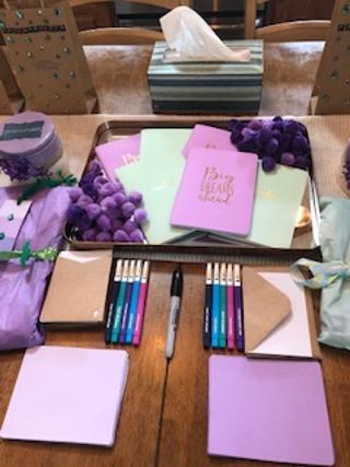 Fuzzy wuzzies, journals, prayer cards