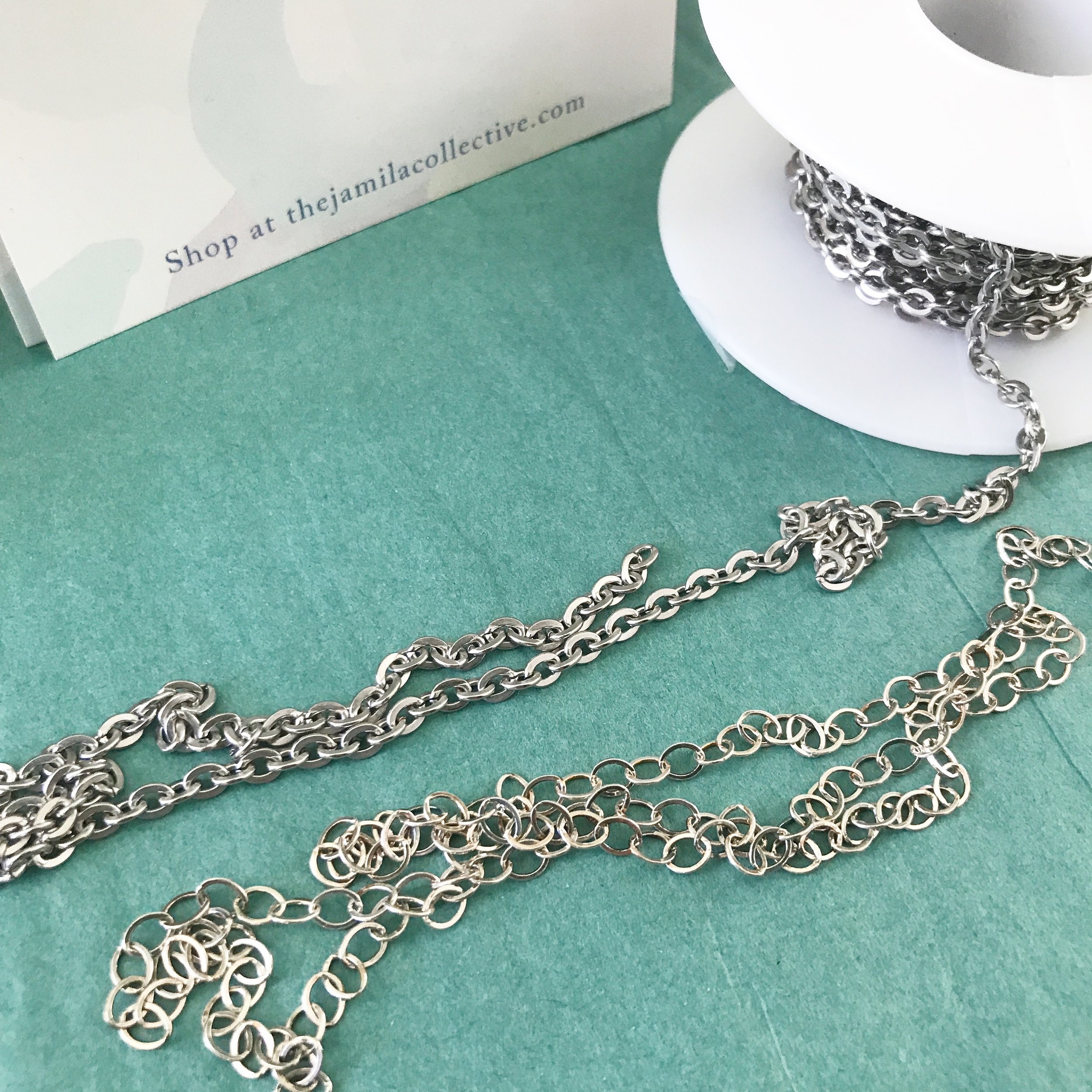 Made in the USA! - Sterling Silver & Stainless Steel Chain are made right here. Almost all our other metal components are made in the USA too!