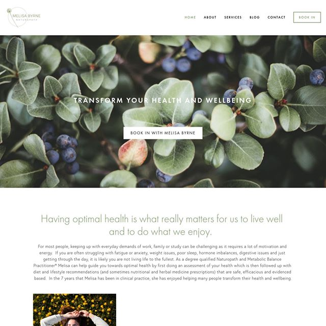 A stunning website for @melisa_byrne_naturopath 🌿