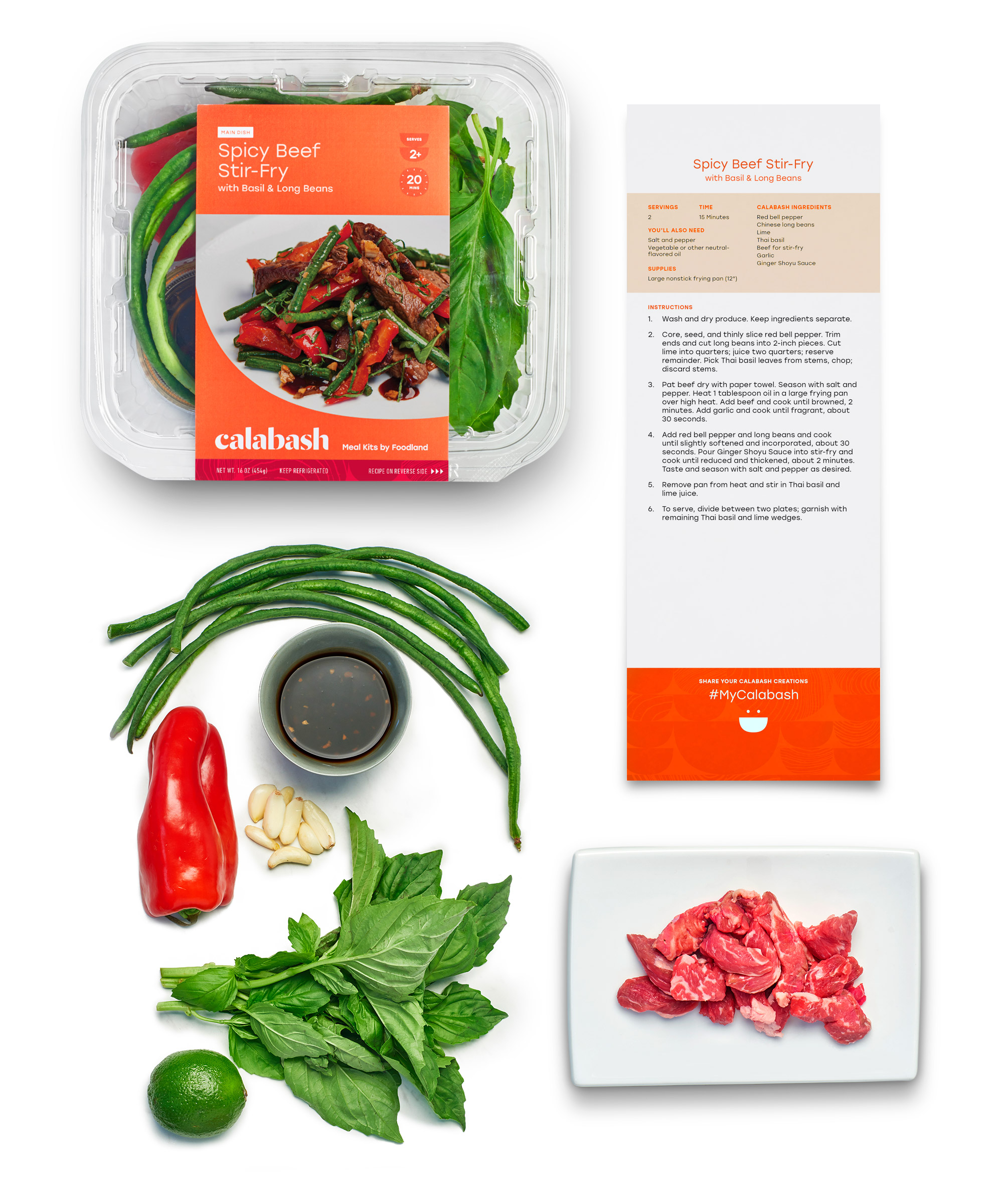 What's in a meal kit? - Whether it is a main or side dish, each Calabash kit contains everything you need for delicious, convenient meals that can be made at home in about 30 minutes.Chef-Designed RecipesWith step-by-step instructions located on the back of the packaging and online.No Measuring RequiredIngredients are conveniently pre-measured with minimal cutting or chopping.Fresh, Quality IngredientsWe source locally grown products whenever we can to support local farms and ranches.