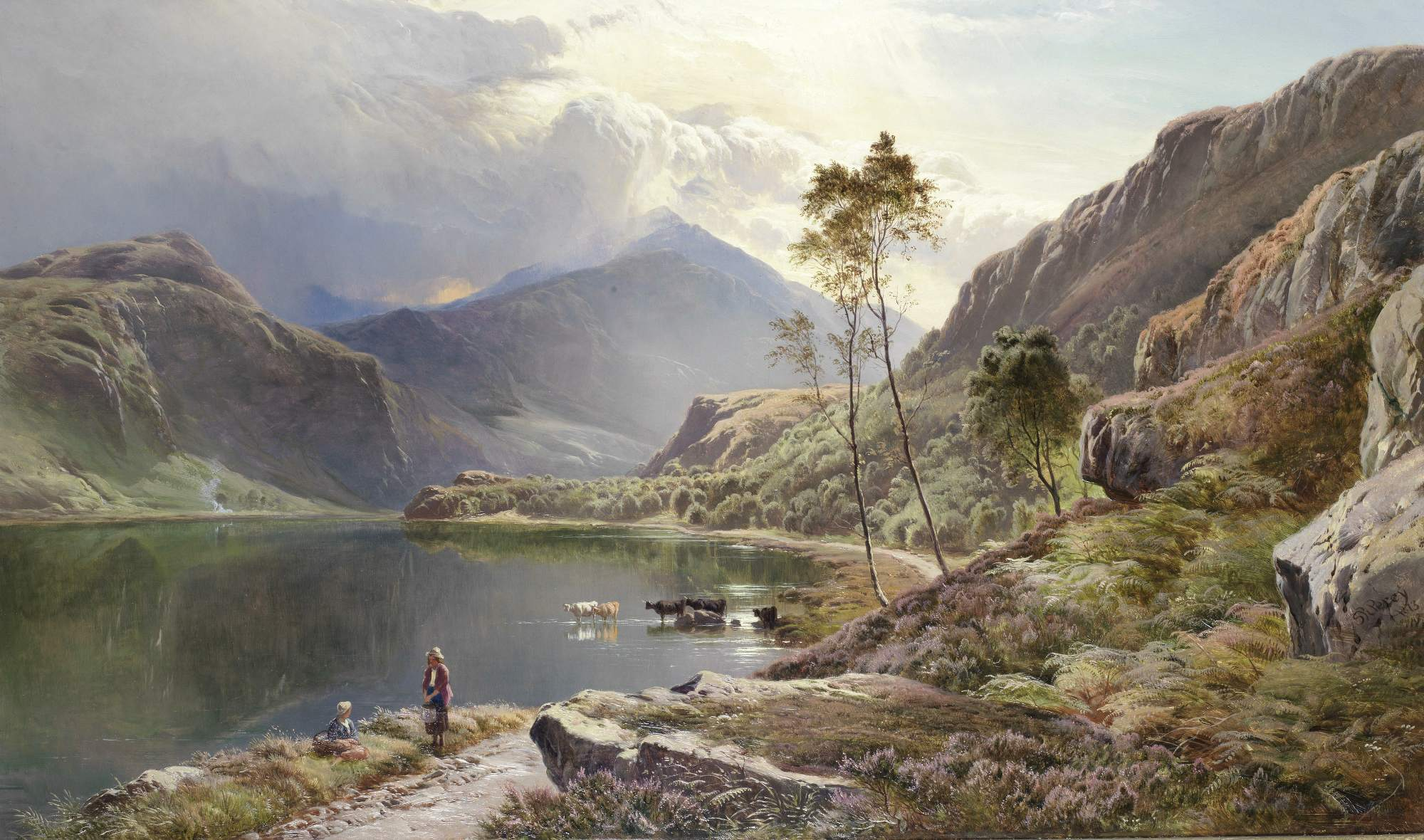 """Llyn Dinas"" by Sydney Richard Percy"