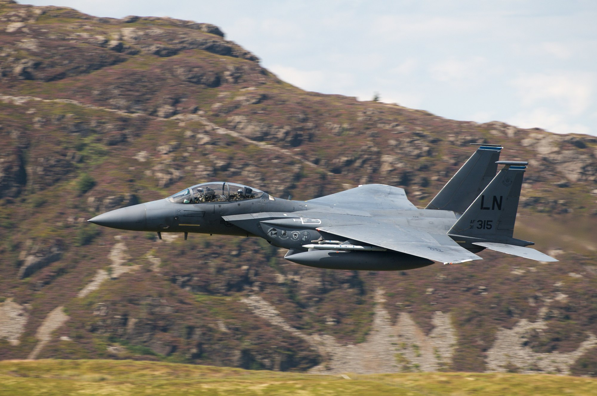 F15 in the Mach Loop, Snowdonia