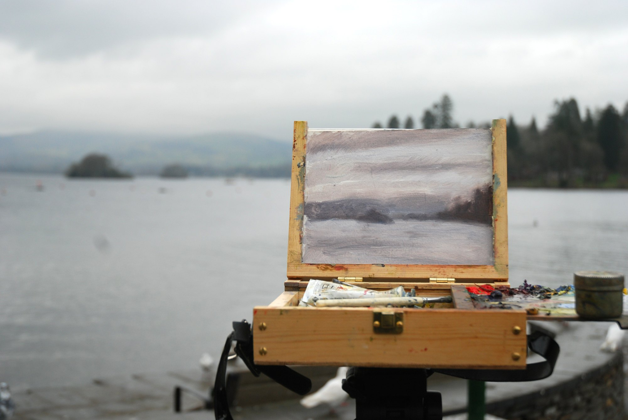 """Winter Study, Windermere"""