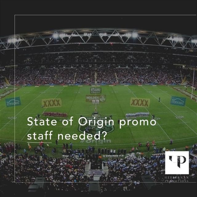State of Origin kicks off in a few weeks 🏉 Create the perfect experience for your patrons and hire our promo staff for in -venue tray service. #heffernanpromotions #NRL #stateoforigin #sportingevents #promotionalstaff
