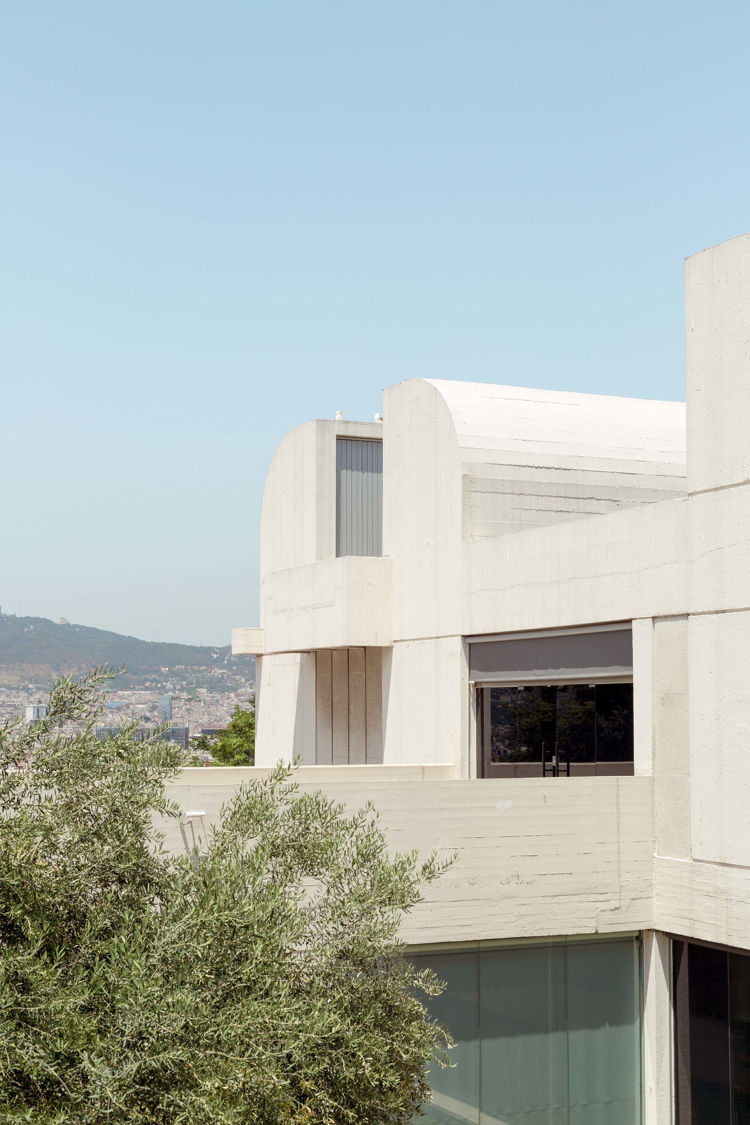 Architectural photograph series of the Fundació Joan Miró, Barcelona. Museum of modern art honoring Joan Miró designed by architect Josep Lluís Sert. By Daniel Walker Photography