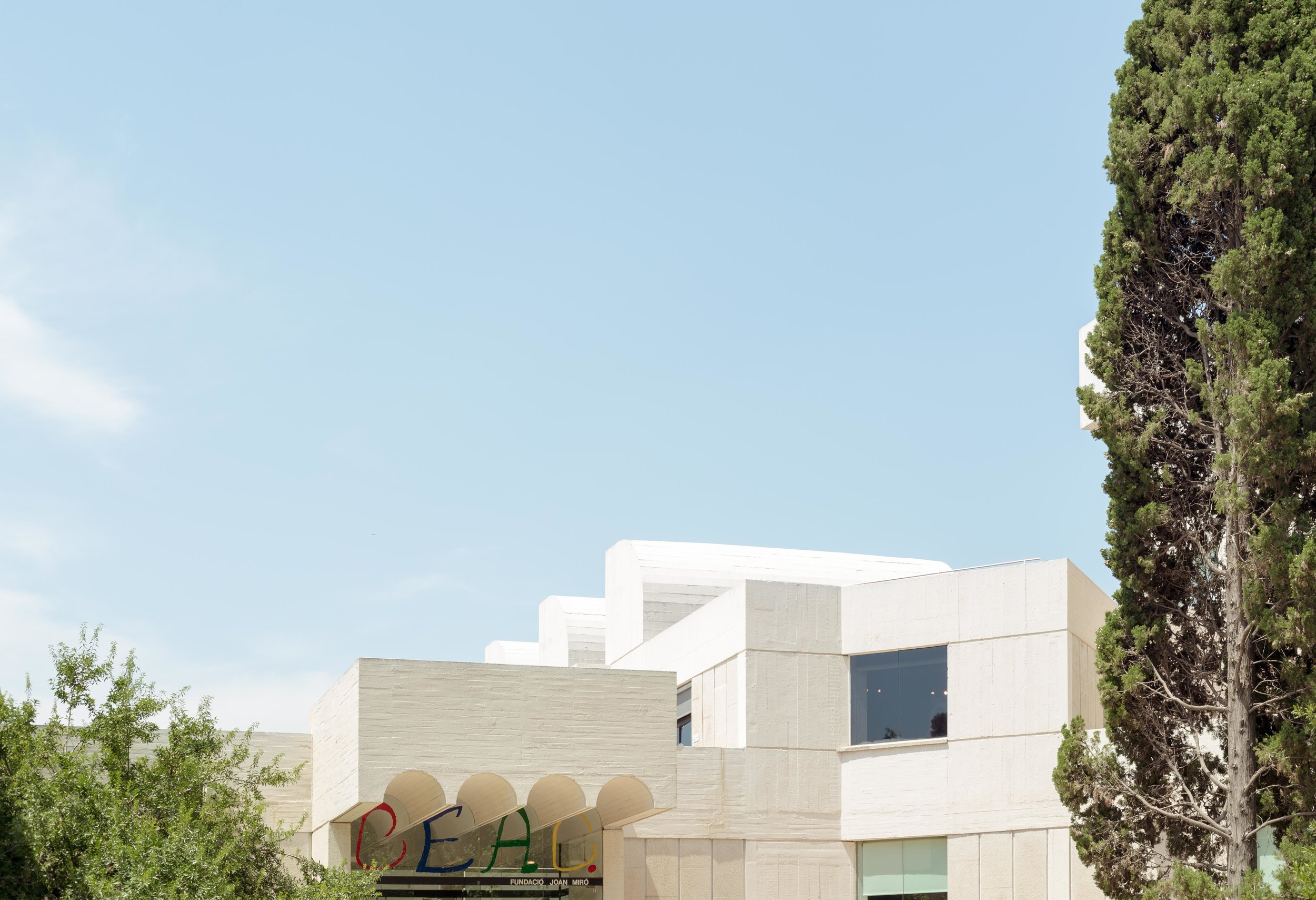 Architectural photograph series of the Fundació Joan Miró, Barcelona. Museum of modern art honouring Joan Miró designed by architect Josep Lluís Sert. By Daniel Walker Photography