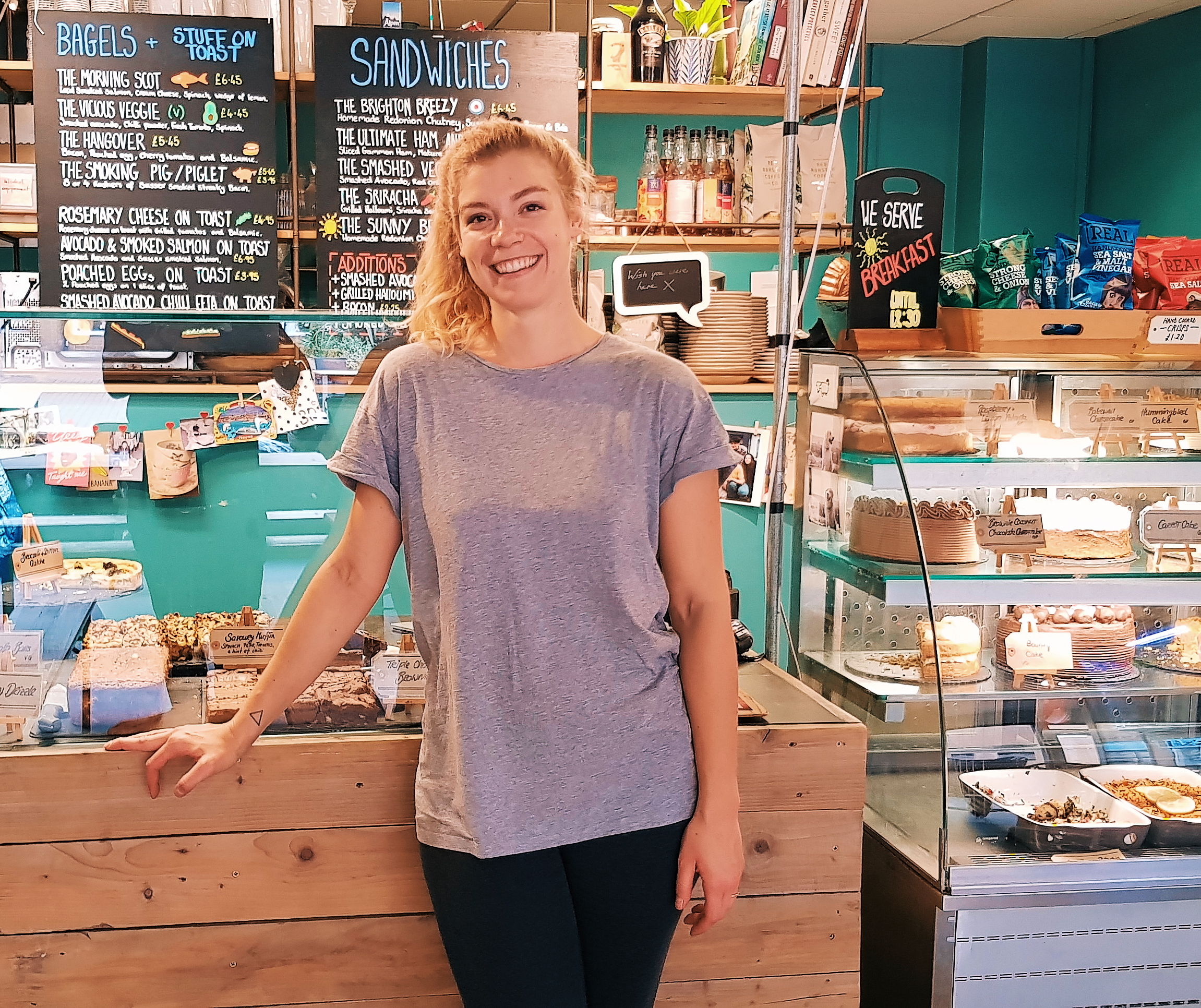 Meet Ella - Our head baker Ella has been with us for over two years. She brought with her some fantastic recipes, a huge passion for all things food and a heck load of charm. Below, we ask her some questions so people can know more about the gal behind the bakes.