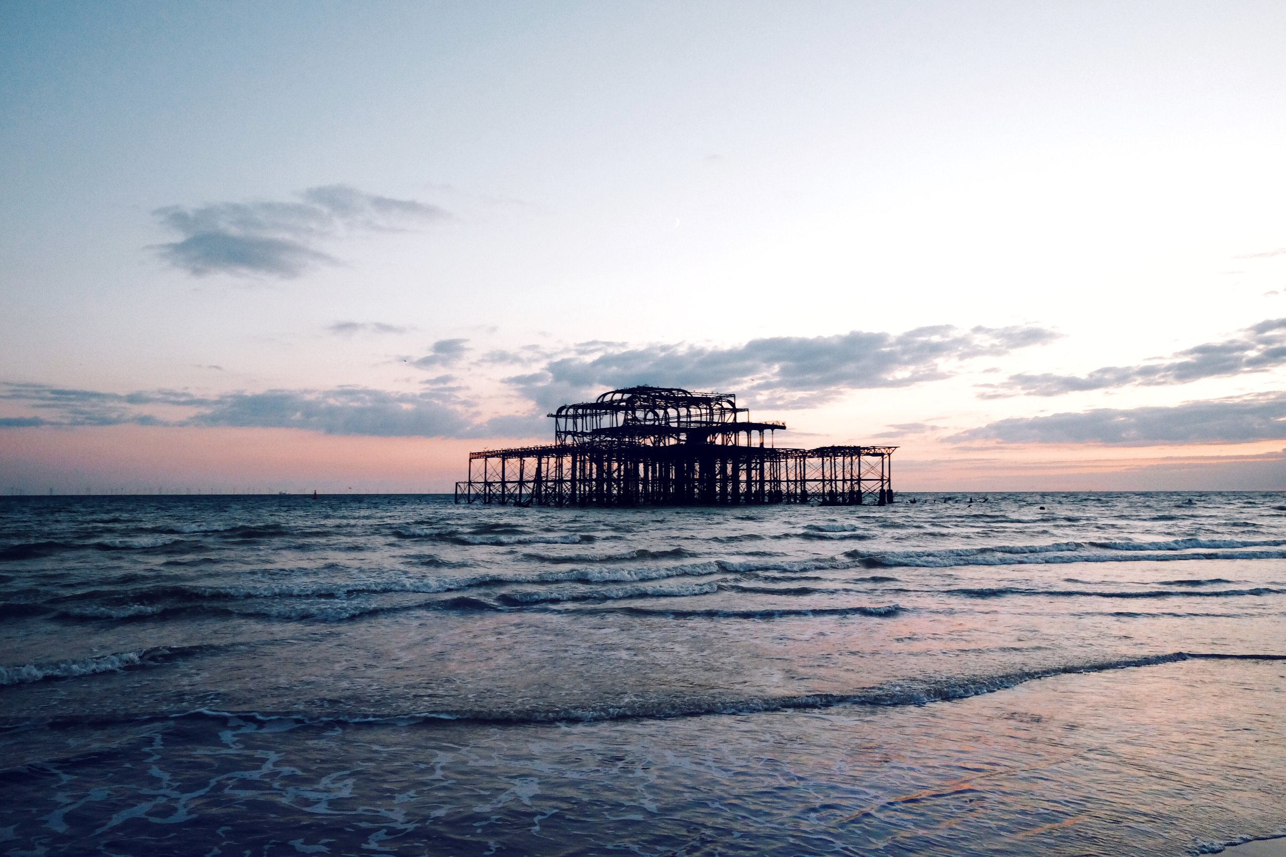 Brighton's iconic & majestic west pier