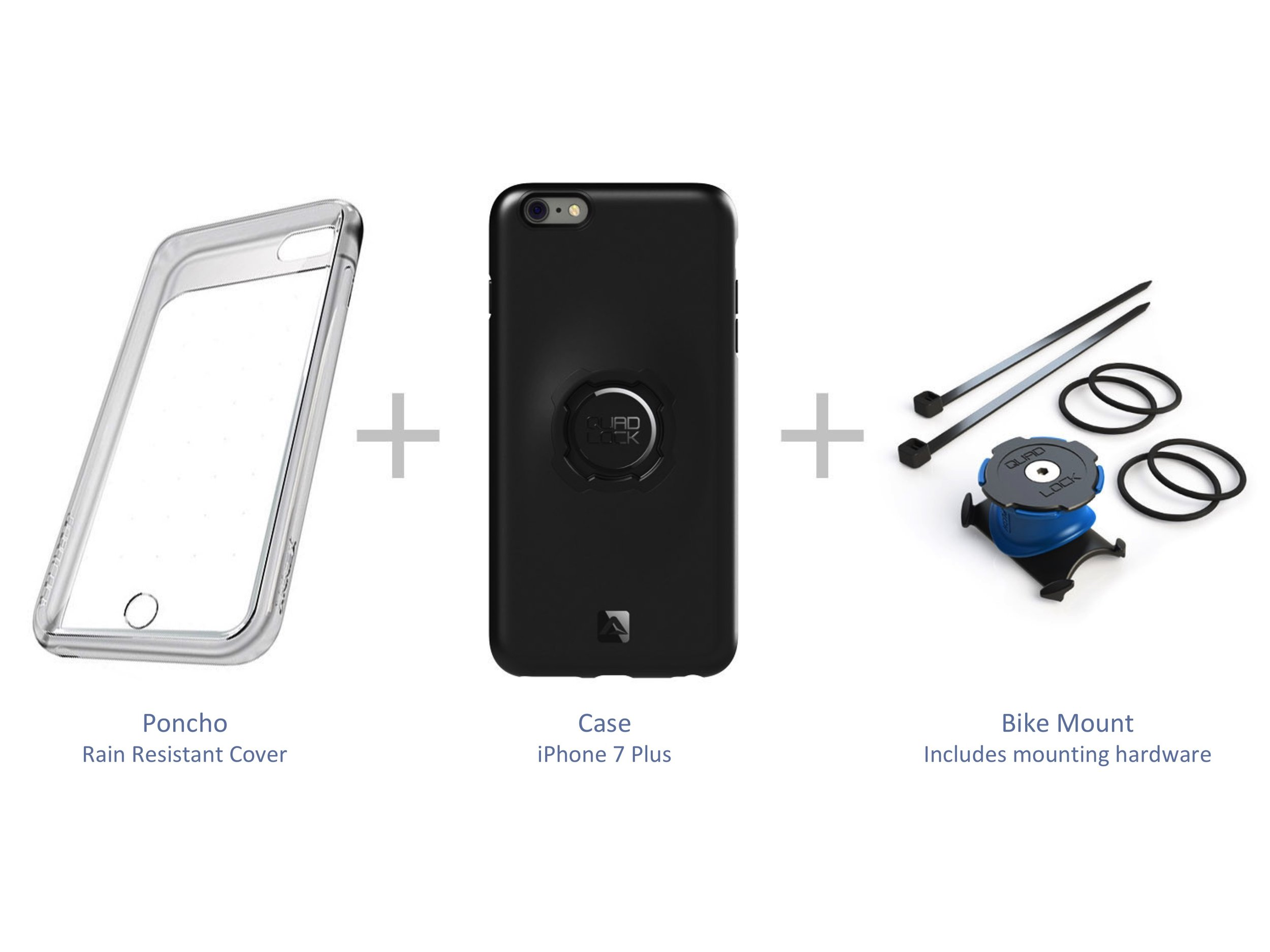 Quadlock - iPhone 7 Plus bike kit