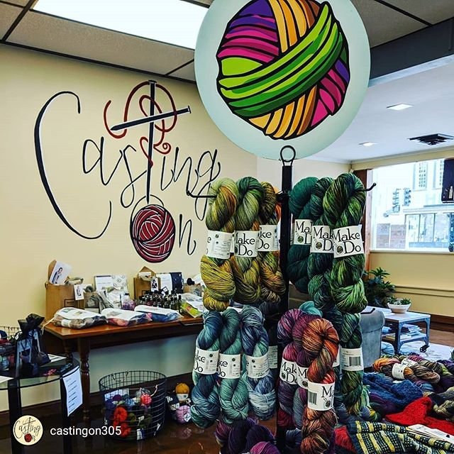 repost via @instarepost20 from @castingon305 @make_._do is here! Fiber Frolic Day 3. . THAT'S ME! 🧶