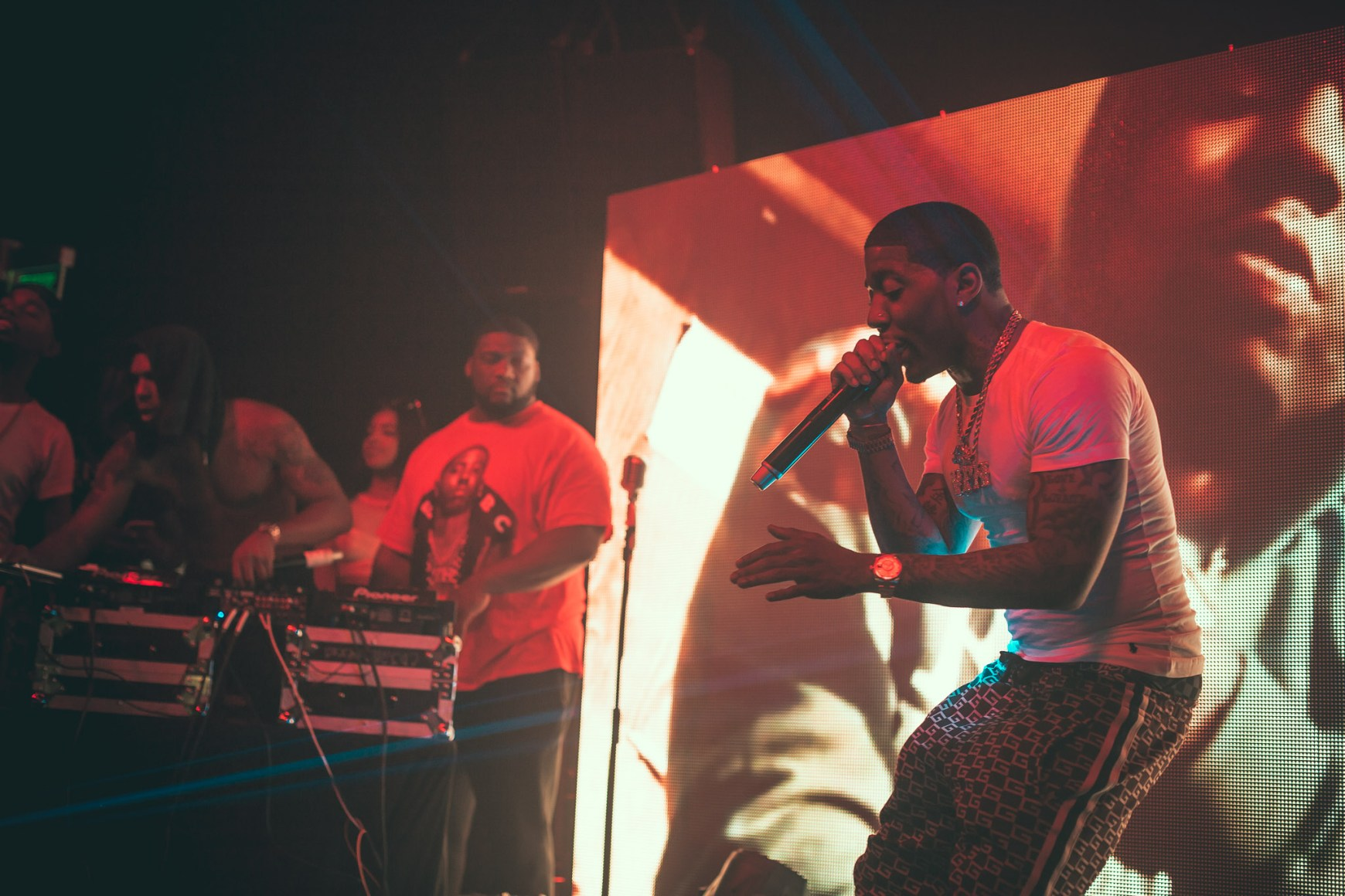YFN Lucci performing at Coda in Philadelphia, PA.