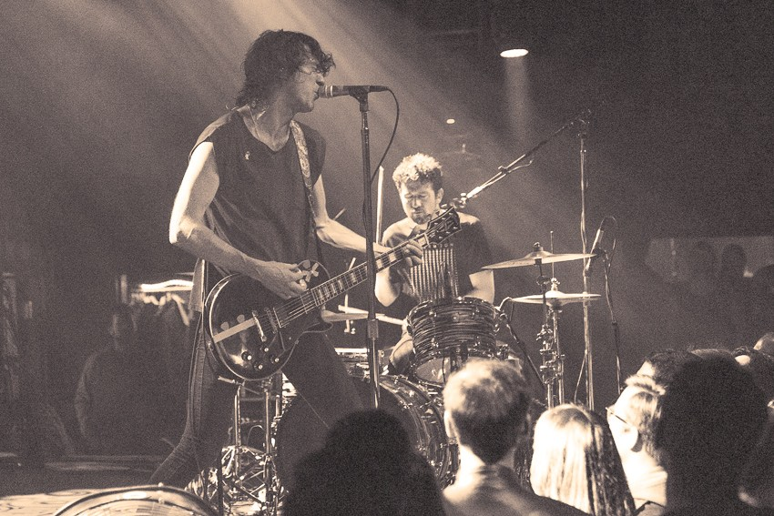 Japandroids performing at The Independent in San Francisco, CA.