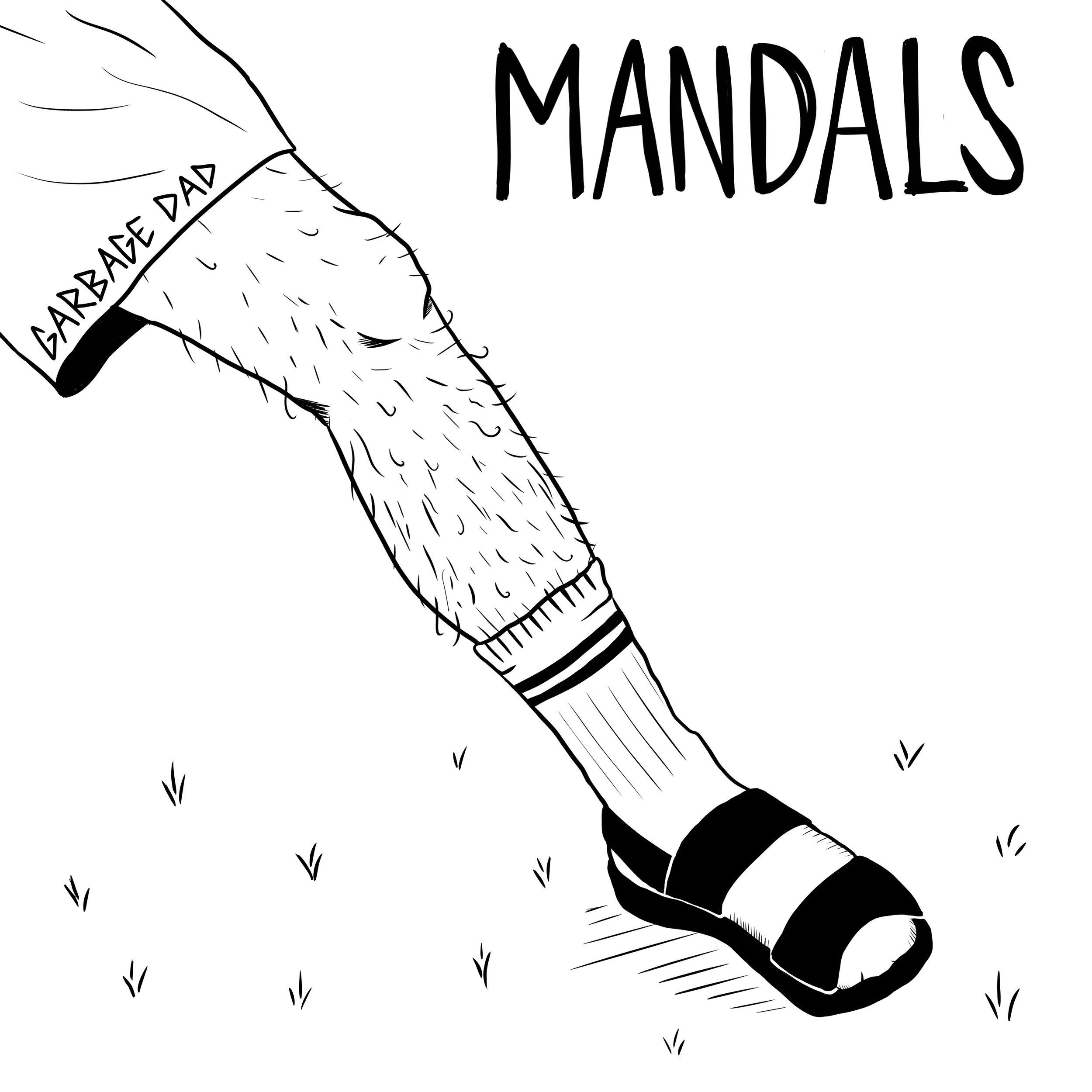 'Mandals' EP Artwork by Veronica Mitrano