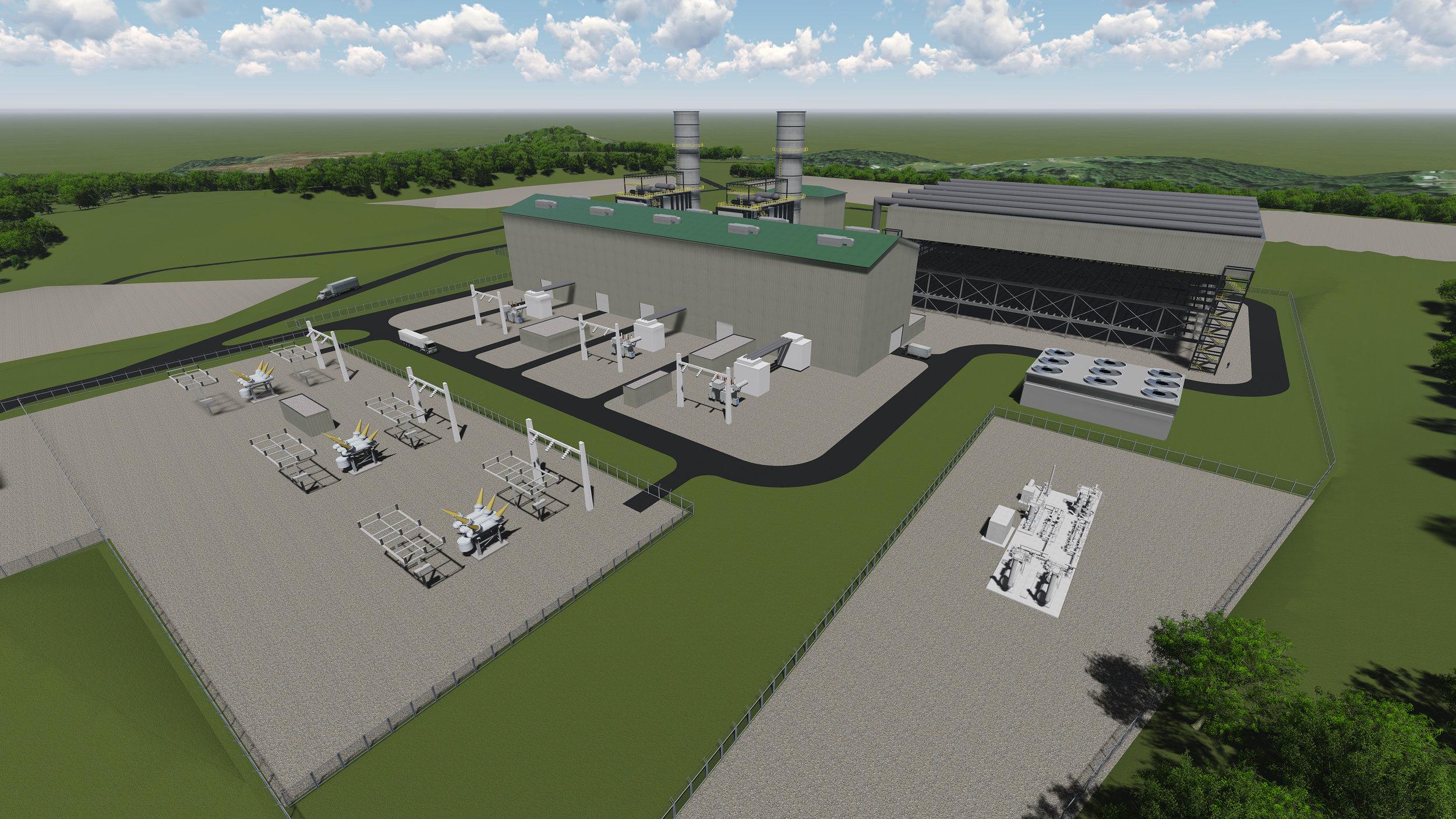 Broke County Power Rendering  2x1 GE HA.01 with ACC
