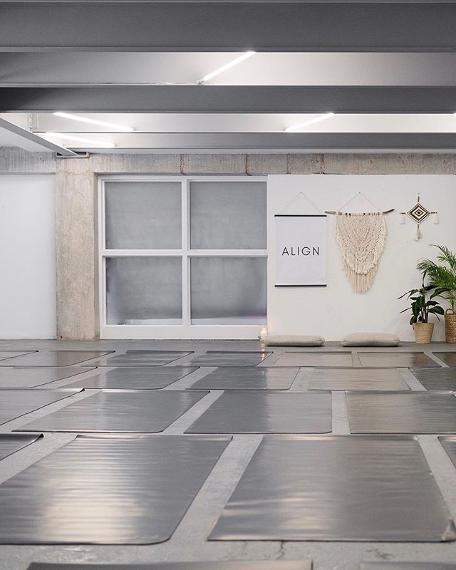 "Before the magic was made : Our home for the day.... @thesilverbuilding and our soaked in the energy of the day @lululemon mats that were gifted to each attendee. ⠀ ⠀ There will be more coming from us @thealigned... we are giving it time to feel our way to the next ""thing"", staying connected x 📸@brensd"