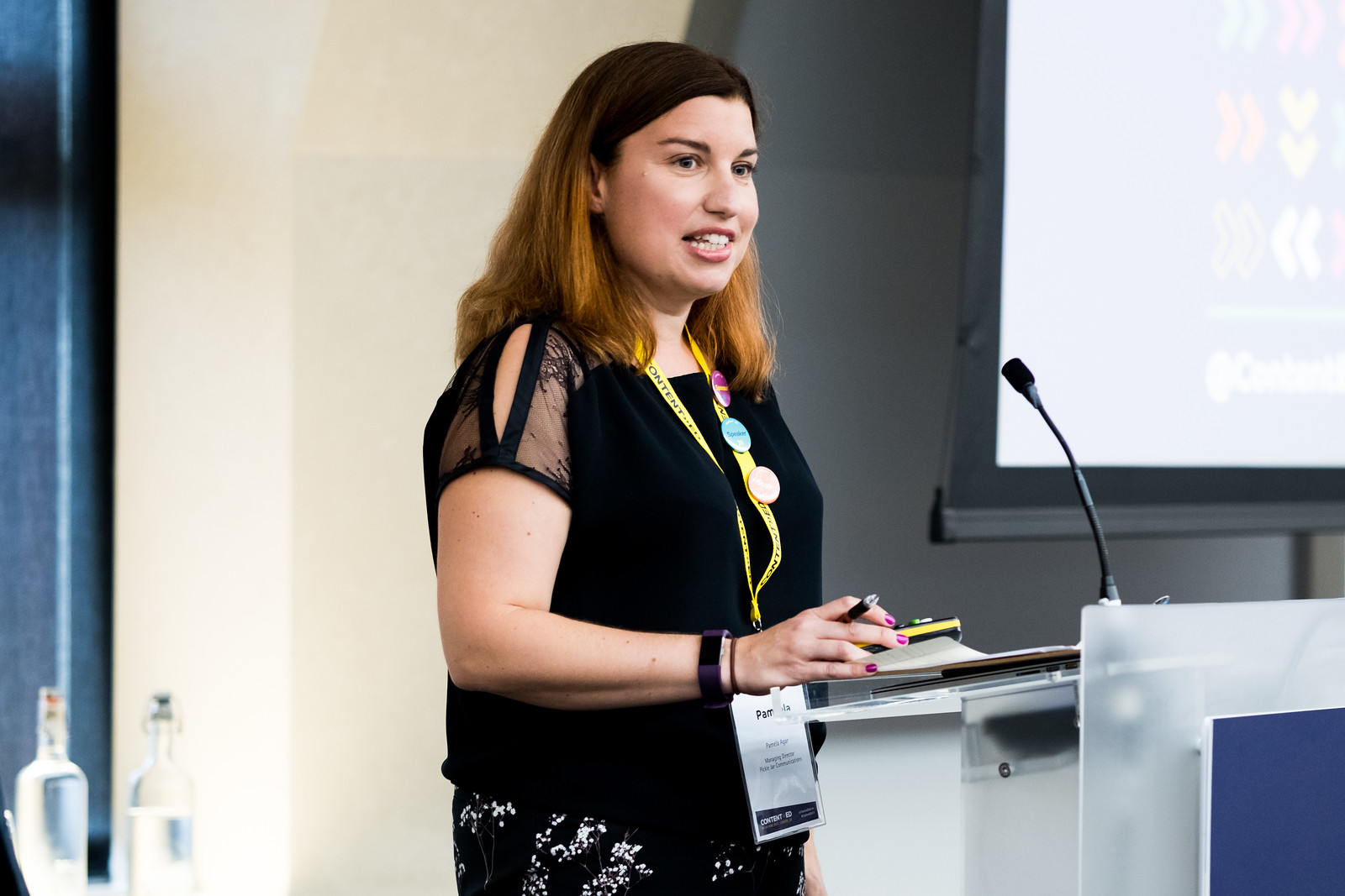Presenting at ContentEd 2017  (photograph: Tynesight Photographic Services)