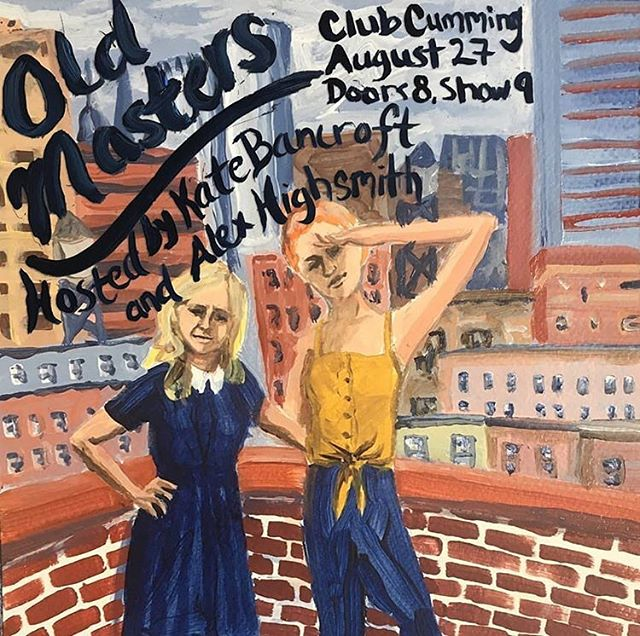 NYC! Hot off their @edfringe debuts, @ahigh6 and @katebancroft_ have concocted their own variety show @clubcumming. Join us at Old Masters and toast to these brilliant women on August 27th!
