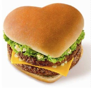 Cheeseburger Love. - Cheeseburger Love, Valentine's Day Style. I am positive I don't have the patience to prepare a heart shaped bun but is sure would be fun to include in a special cheeseburger dinner!