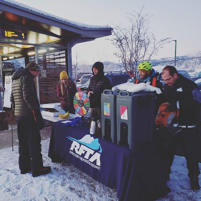 Swing by the Carbondale Park and Ride today from 7am-9am for Winter Bike to Work Day! Free Coffee, Snacks, and giveaways! @cleanenergyeconomy @ride_rfta
