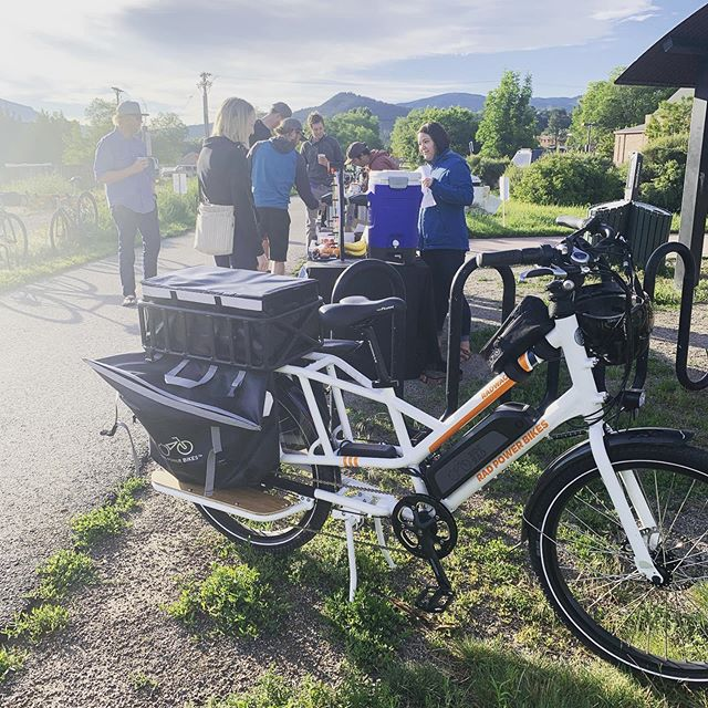 Bike to work day! Stop by on the Rio Grande Trail just behind the Rec Center in Carbondale for some Blue Spruce Coffee, @sweetcoloradough and @wise_bar goods. Thanks @ride_rfta and @cleanenergyeconomy